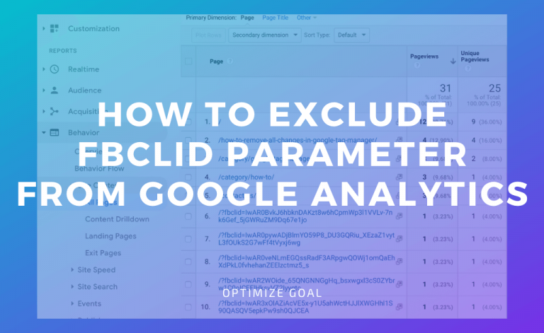 exclude fbclid parameter from Google Analytics