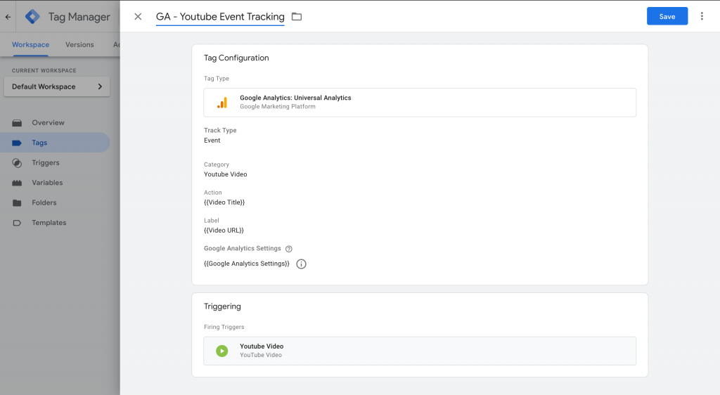 Youtube Video Tracking in GTM 3