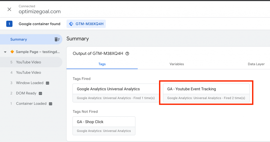 Youtube Video Tracking in GTM 4