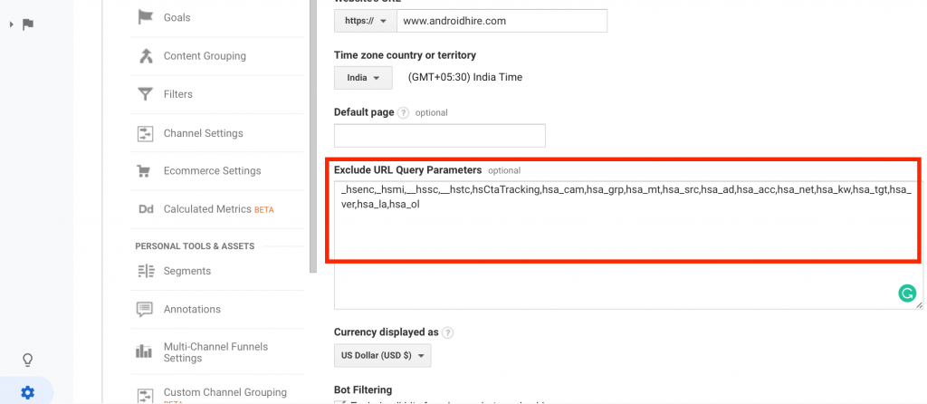 Excluding URL Query Parameter From Google Analytics
