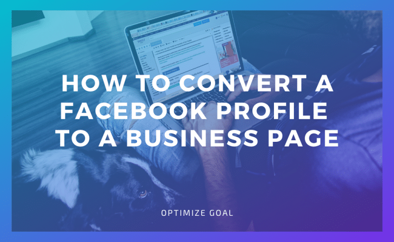 Convert a Facebook Profile to a Business Page