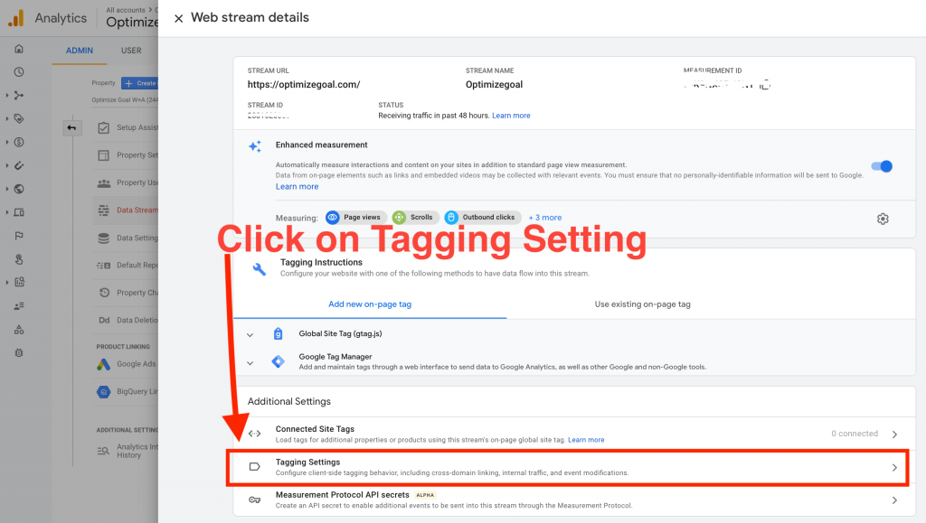 cross domain tracking google analytics 4 step2