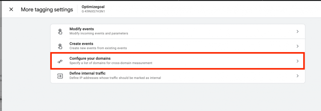 cross domain tracking google analytics 4 step3
