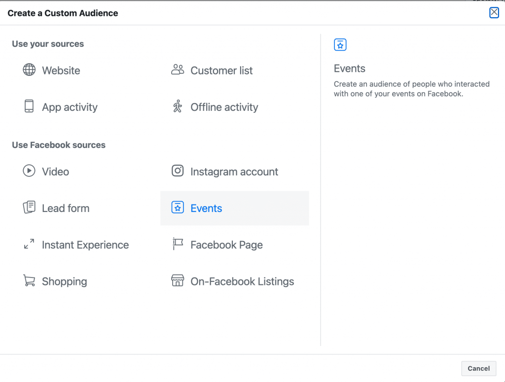 facebook event custom audience 7