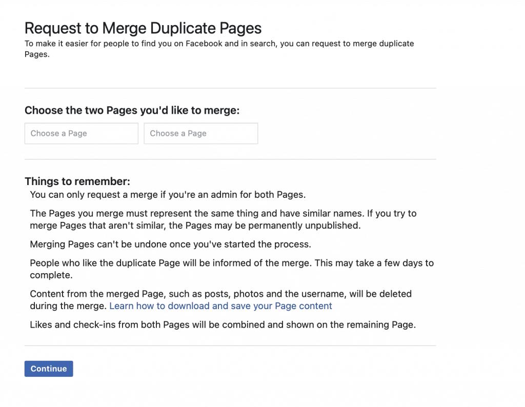 facebook merge request 1