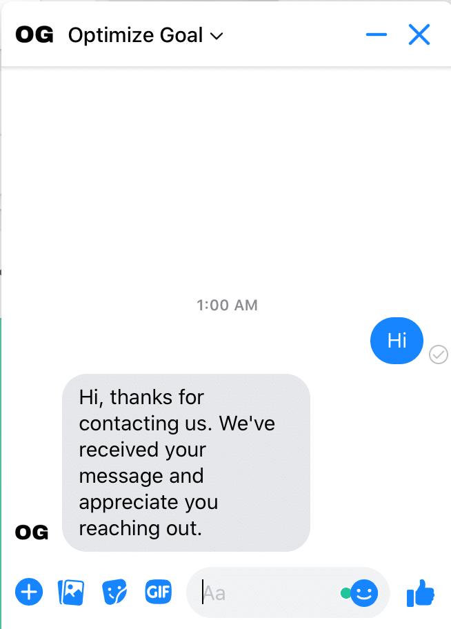 messenger greeting final test