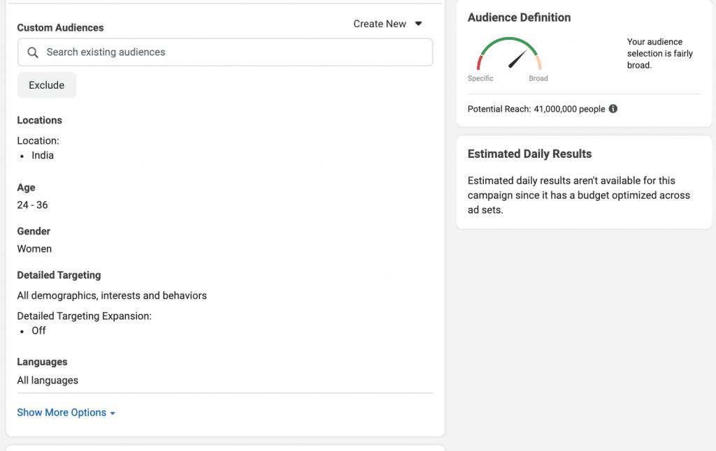 Facebook Broad Targeting 1