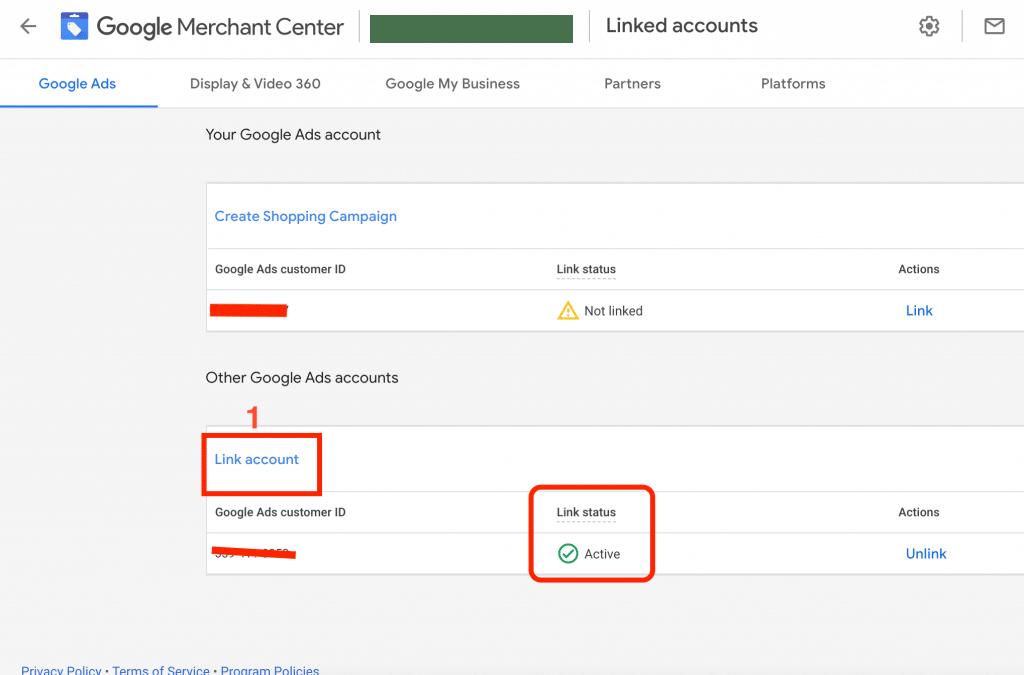 Link Google Merchant Center To Google Ads Merchant Center Complete Linked