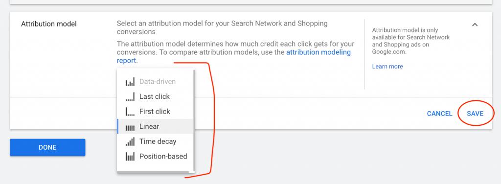 Change Attribution Model in Google Ads Step 4